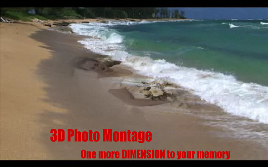Music Slideshow, 3D Photo Montage Service with memory imprint studio