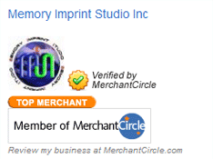 Memory Imprint Studio is Top merchant at MerchantCircle