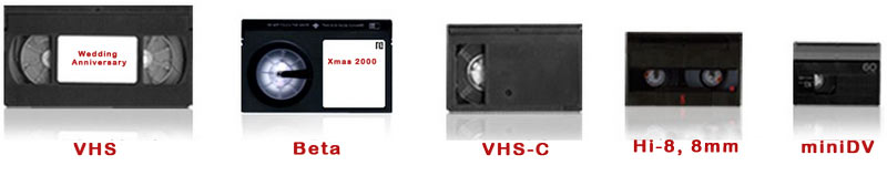VHS, VHSc, Hi8, Mini DV, HDV tapes to DVDs and hard drive
